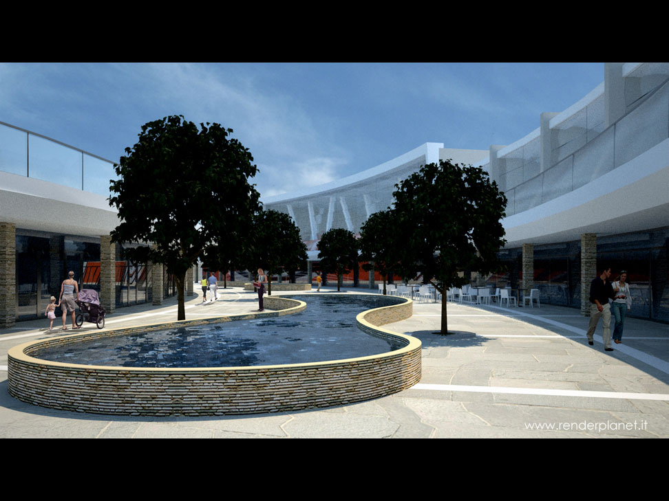 Rendering centro commerciale