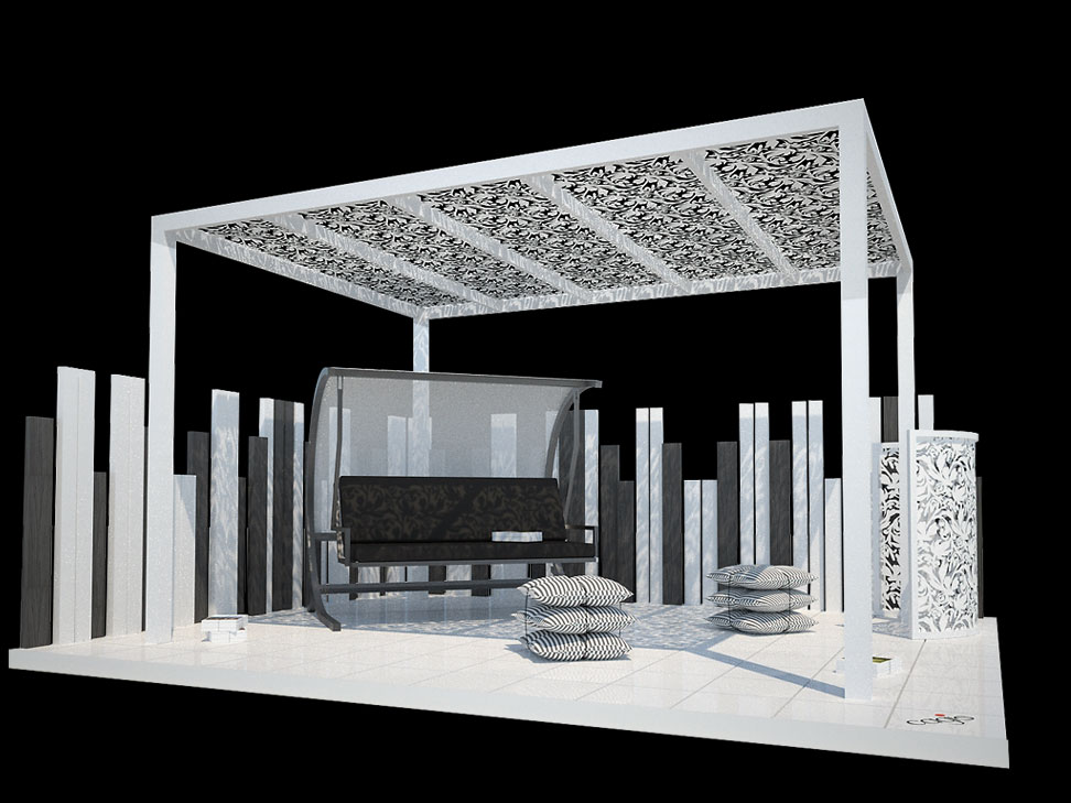 Iron gazebo rendering