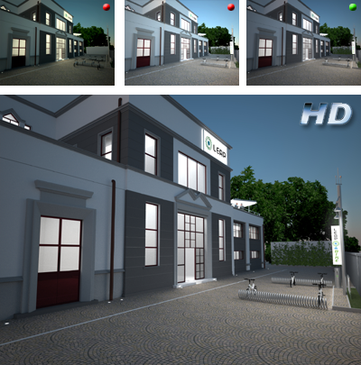 exterior rendering - trail version and final version HD