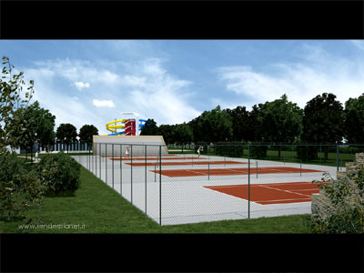 sports facilities rendering